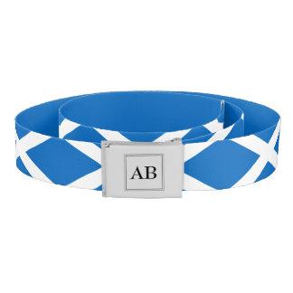 Scottish flag with monogram belt