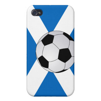 Scottish Flag with Soccer Ball  Cases For iPhone 4