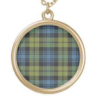 Scottish Flair Campbell Tartan Gold Plated Necklace