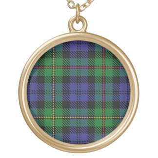 Scottish Flair Clan MacEwen Tartan Gold Plated Necklace