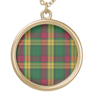 Scottish Flair Clan MacMillan Tartan Gold Plated Necklace