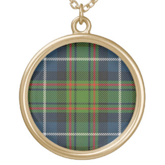 Scottish Flair Clan MacRae Tartan Gold Plated Necklace