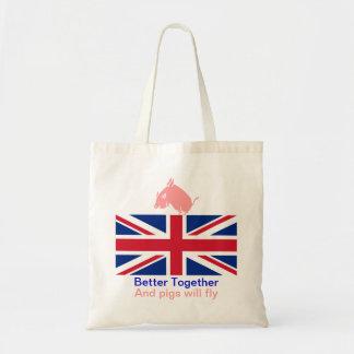 Scottish Flying Pig Better Together Tote Bag