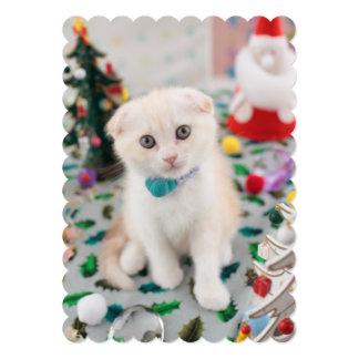 Scottish Fold At Christmas 5x7 Paper Invitation Card