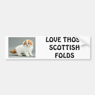 Scottish Fold Car Bumper Sticker