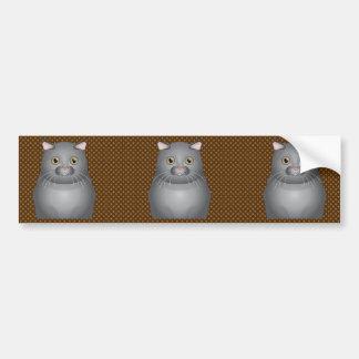 Scottish Fold Cat Cartoon Paws Bumper Sticker