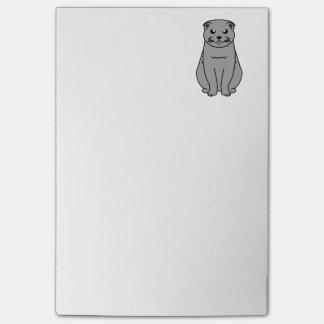 Scottish Fold Cat Cartoon Post-it® Notes