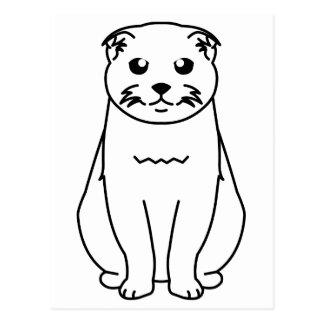 Scottish Fold Cat Cartoon Postcard