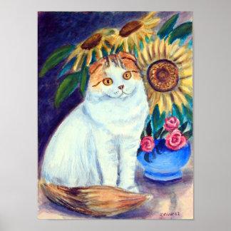 Scottish Fold Cat Wall Print
