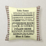 Scottish Food Menu Tartan Cushion Pillows
