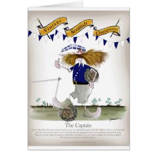 scottish football captain card