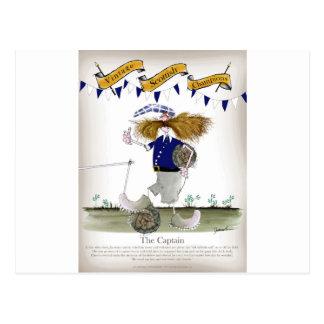 scottish football captain postcard