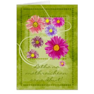 Scottish Gaelic Mother's Day Card - Latha na mathr