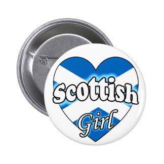 Scottish Girl Pinback Button