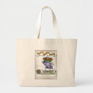 scottish goalkeeper large tote bag