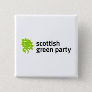Scottish Green Party Logo Button