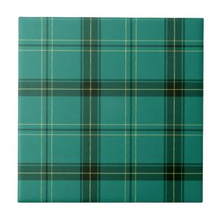 Scottish Green Tartan Tile