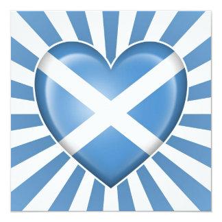 Scottish Heart Flag with Star Burst Card