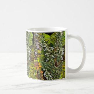 Scottish Heather Stained Glass Effect Mug