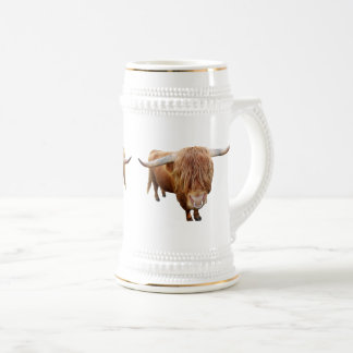 Scottish highland cattle beer stein