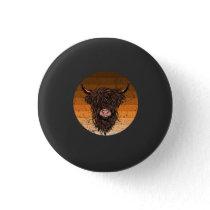 Scottish Highland Cattle Button