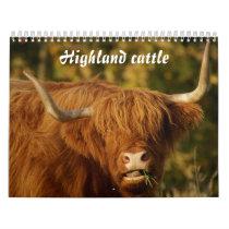 Scottish Highland Cattle Calendar