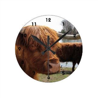 Scottish Highland Cattle ~ Clock