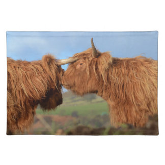 Scottish Highland Cattle Cloth Placemat