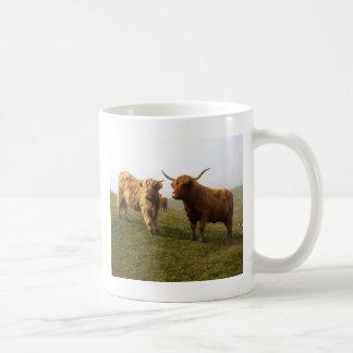 Scottish Highland Cattle - Greener Pastures! Coffee Mug