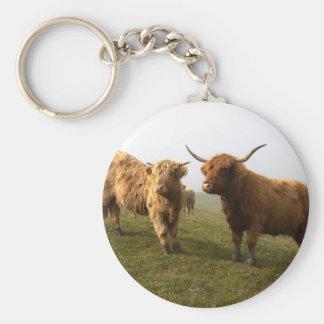 Scottish Highland Cattle - Greener Pastures! Keychain
