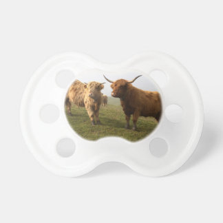 Scottish Highland Cattle - Greener Pastures! Pacifier