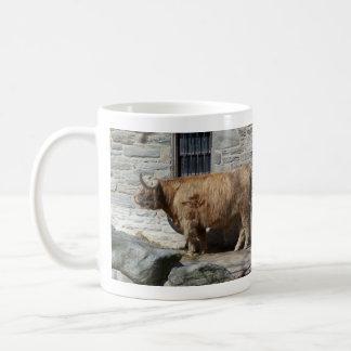 Scottish Highland Cattle Portrait Coffee Mug