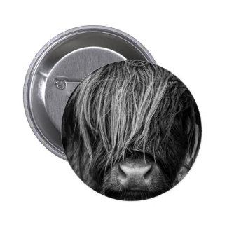 Scottish Highland Cattle - Scotland 2 Inch Round Button