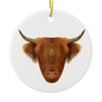 Scottish Highland Cattle Scotland Animal Cow Ceramic Ornament