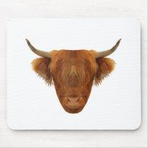Scottish Highland Cattle Scotland Animal Cow Mouse Pad