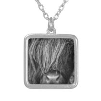 Scottish Highland Cattle - Scotland Silver Plated Necklace