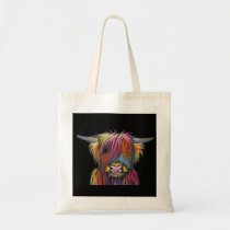 Scottish Highland Cow ' BRaVEHEaRT 2' by Shirley M Tote Bag