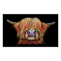 SCoTTiSH HigHLaND CoW ' CHaRMeR ' by SHiRLeY Mac Poster