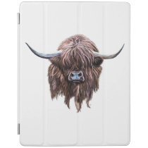 Scottish Highland Cow In Colour iPad Smart Cover