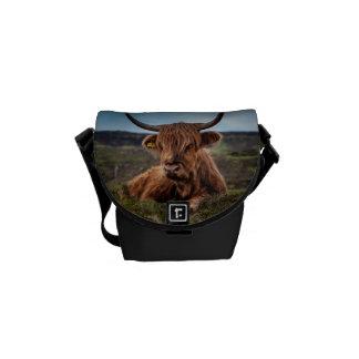 Scottish Highland Cow Longhorn Bull Rancher Courier Bag