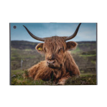 Scottish Highland Cow Longhorn Bull Rancher Cover For iPad Mini