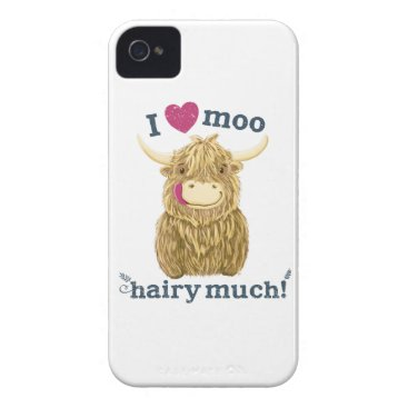 Scottish Highland Cow Loves You Hairy Much Case-Mate iPhone 4 Case