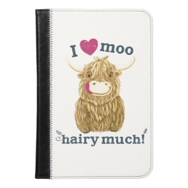 Scottish Highland Cow Loves You Hairy Much iPad Mini Case