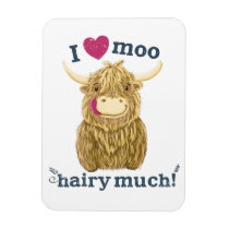 Scottish Highland Cow Loves You Hairy Much Magnet