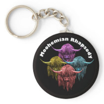 Scottish Highland Cow. Moohemian Rhapsody Keychain