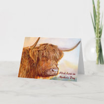 Scottish Highland Cow Mother's Day Card