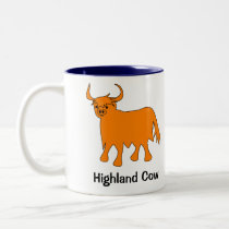 Scottish Highland Cow mug with slogan