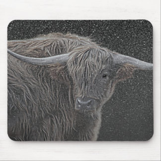 Scottish Highland cow photograph mouse mat