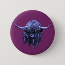 Scottish Highland Cow Pinback Button