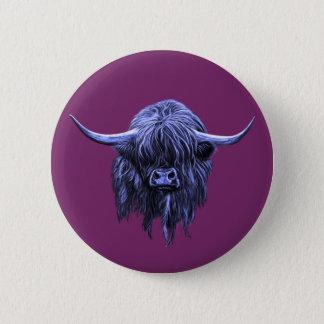 Scottish Highland Cow Pinback Button